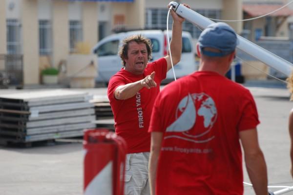 Preparation de voiliers à Cannes