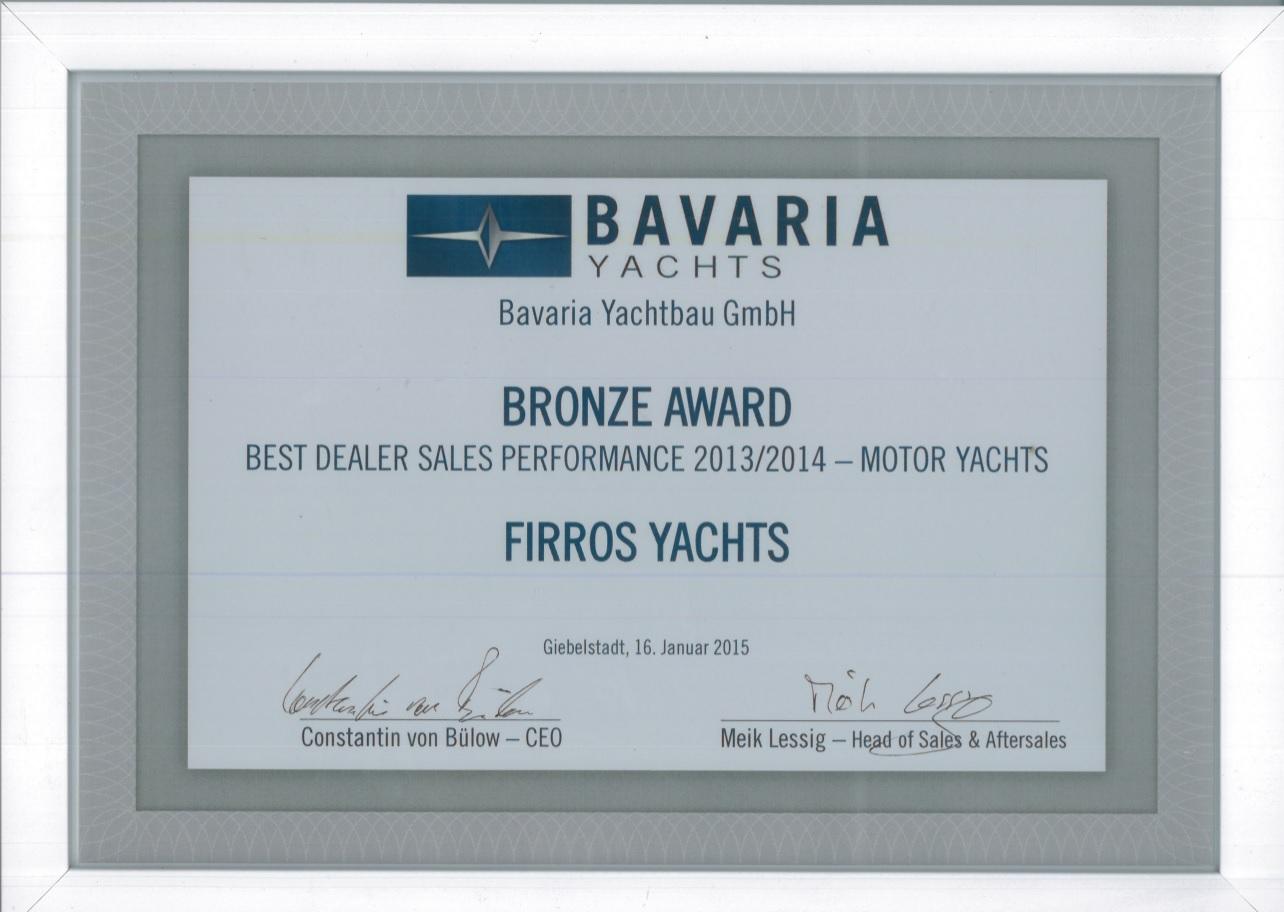 L'équipe Firros yachts Bavaria