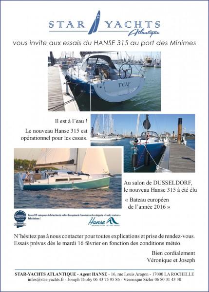 Essai Hanse 315 à la Rochelle